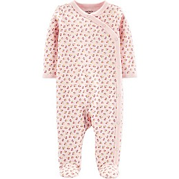 carter's® Preemie Floral Footie in Pink