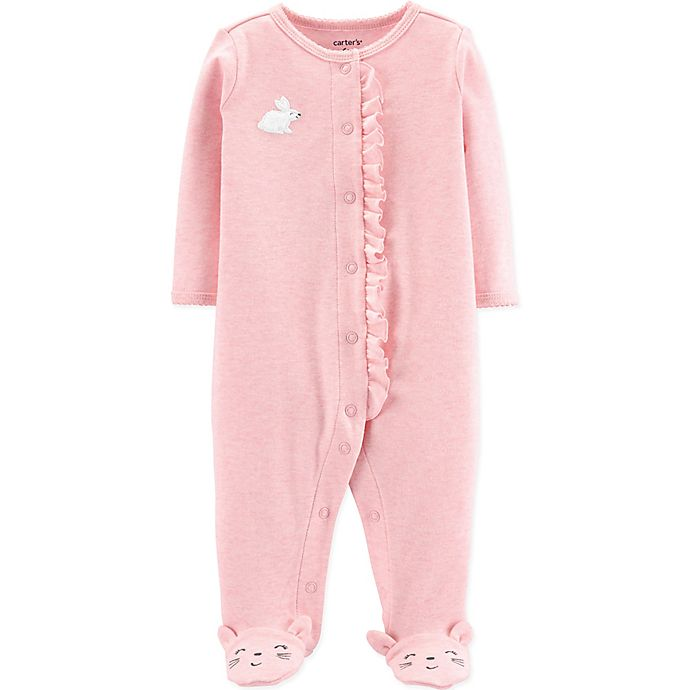 Alternate image 1 for carter's® Preemie Bunny Footie in Pink