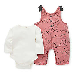 Focus Kids™ 2-Piece Splatter Bodysuit and Jumpsuit Set in Rose