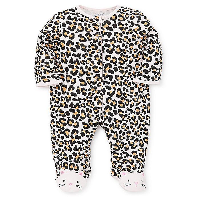 Alternate image 1 for Little Me® Leopard Footie