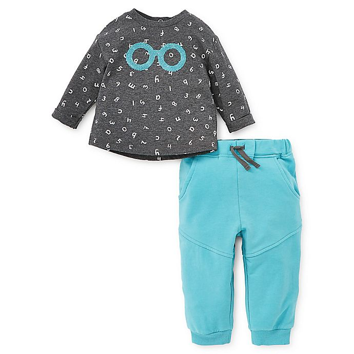 Alternate image 1 for Focus Kids™ 2-Piece Alphabet Top and Pant Set