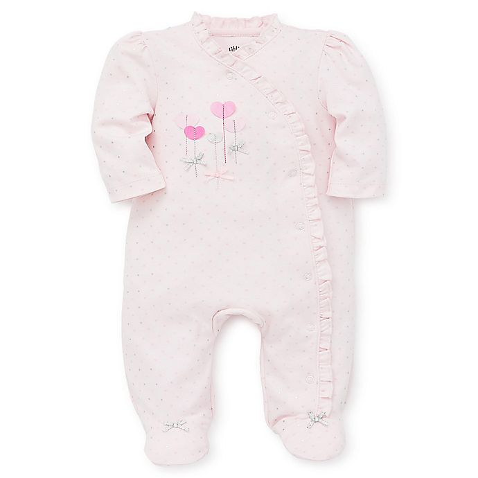 Alternate image 1 for Little Me® Sweet Hearts Footie in Pink