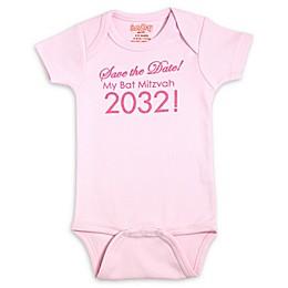 Sara Kety® Save the Date Bat Mitzvah Bodysuit in Pink