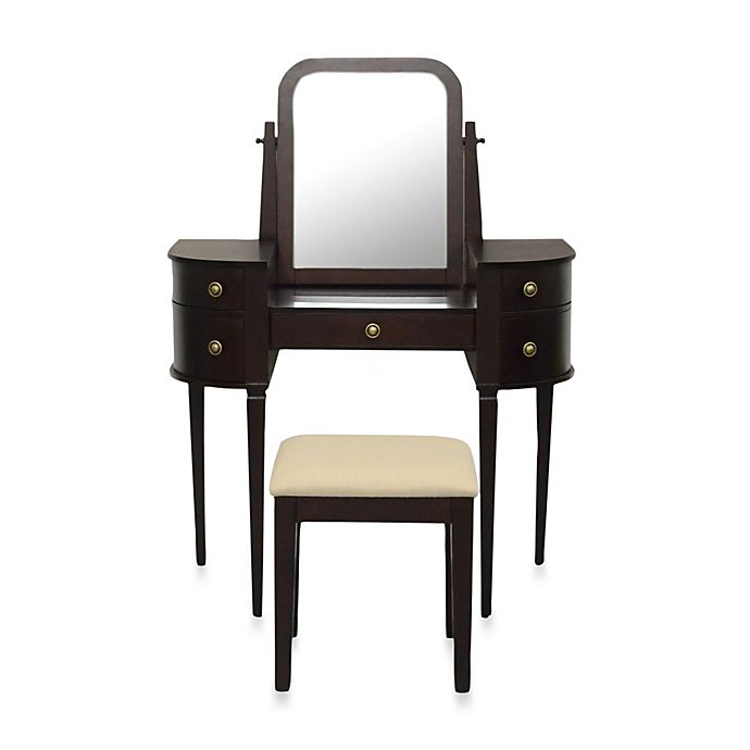 Lamont Home Chelsea Vanity Set In Espresso Bed Bath And Beyond Canada