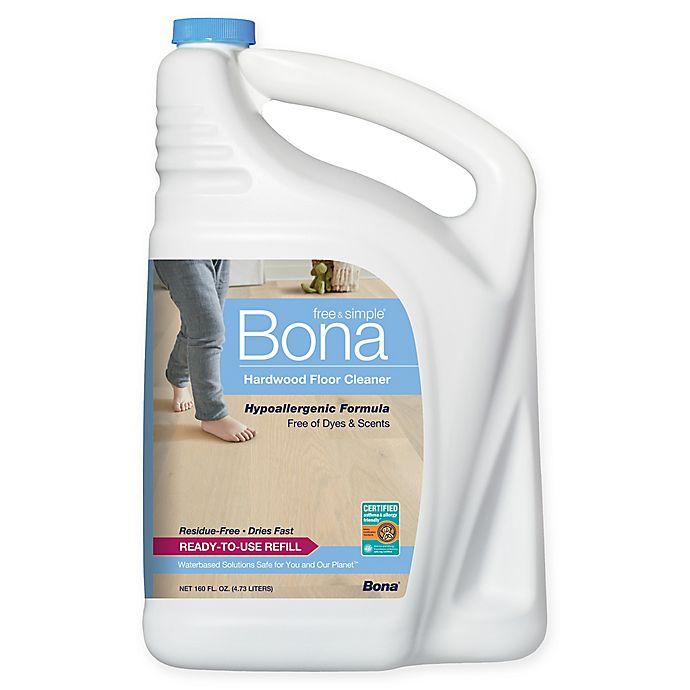 Alternate image 1 for Bona® Free & Simple Hardwood Floor Cleaner in 160-Ounce Refill