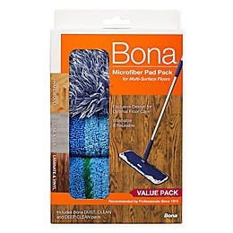 Bona® 3-Pack Microfiber Cleaning Pads in Blue