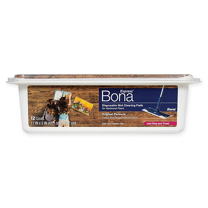 Alternate image 1 for Bona® Disposable Wet Cleaning Pads for Hardwood Floors 12 ct.