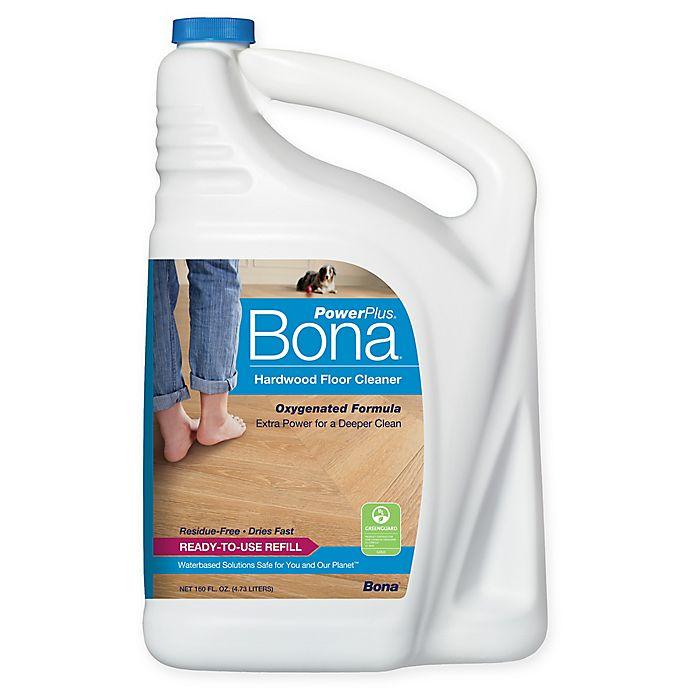 Alternate image 1 for Bona PowerPlus® Hardwood Floor Deep Cleaner Refill 160 oz.