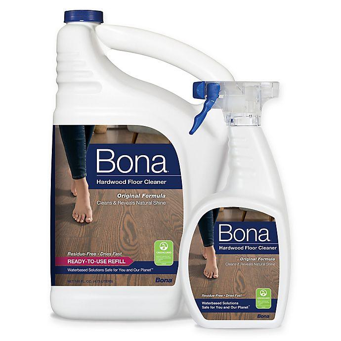 Alternate image 1 for Bona® 160 oz. Hardwood Floor Cleaner Refill with 22 oz. Bonus Spray Bottle