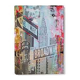 NYC Abstract One Way Broadway Canvas Wall Art
