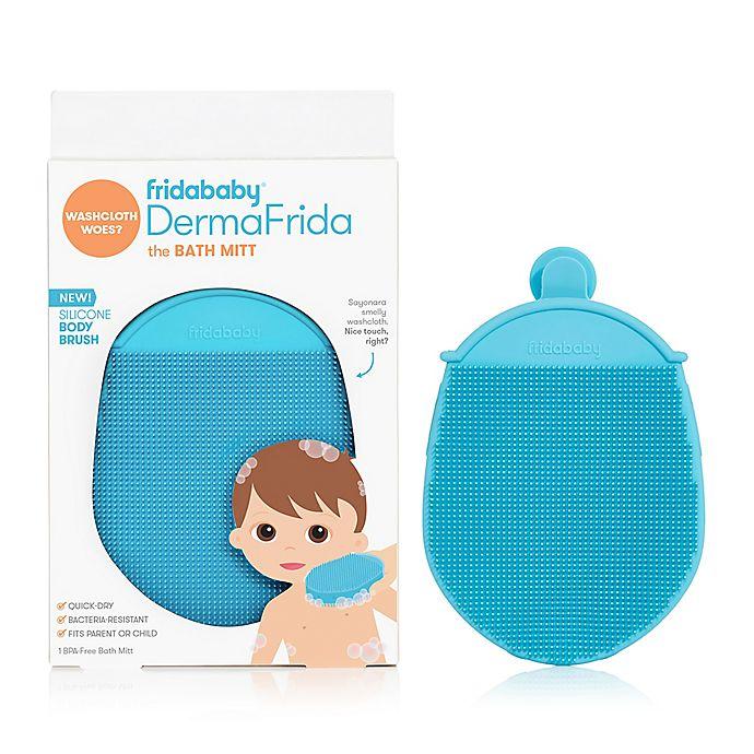 Alternate image 1 for FridaBaby® DermaFrida Silicone Bath Mitt