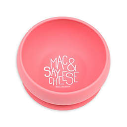 "Bella Tunno™ Silicone ""Mac & Say Cheese"" Toddler Wonder Bowl in Pink"