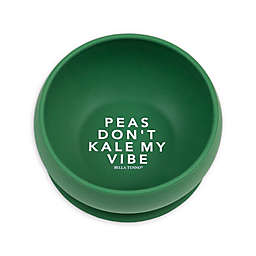 "Bella Tunno™ Silicone ""Kale my Vibe"" Toddler Wonder Bowl in Green"