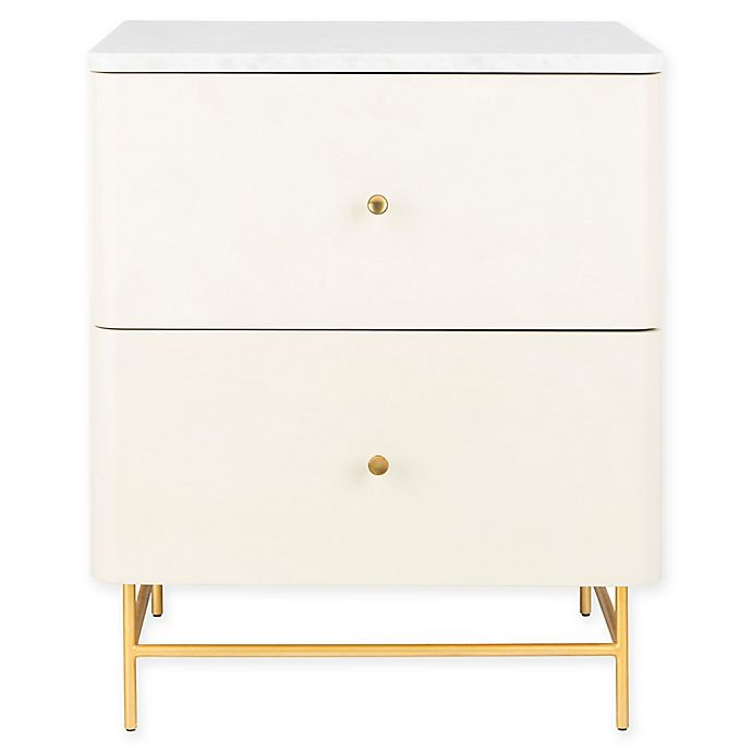 Alternate image 1 for Safavieh Channing Marble Top Nightstand