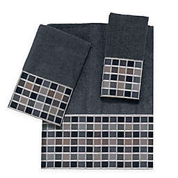 Avanti Kaleidoscope Fingertip Towel in Granite