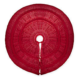 Bee & Willow™ Home Chenille Cable Knit Tree Skirt in Red