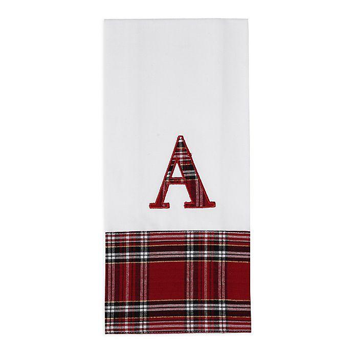 Holiday Plaid Monogrammed Kitchen Towel | Bed Bath & Beyond