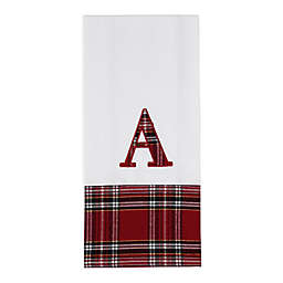 Holiday Plaid Monogrammed Kitchen Towel