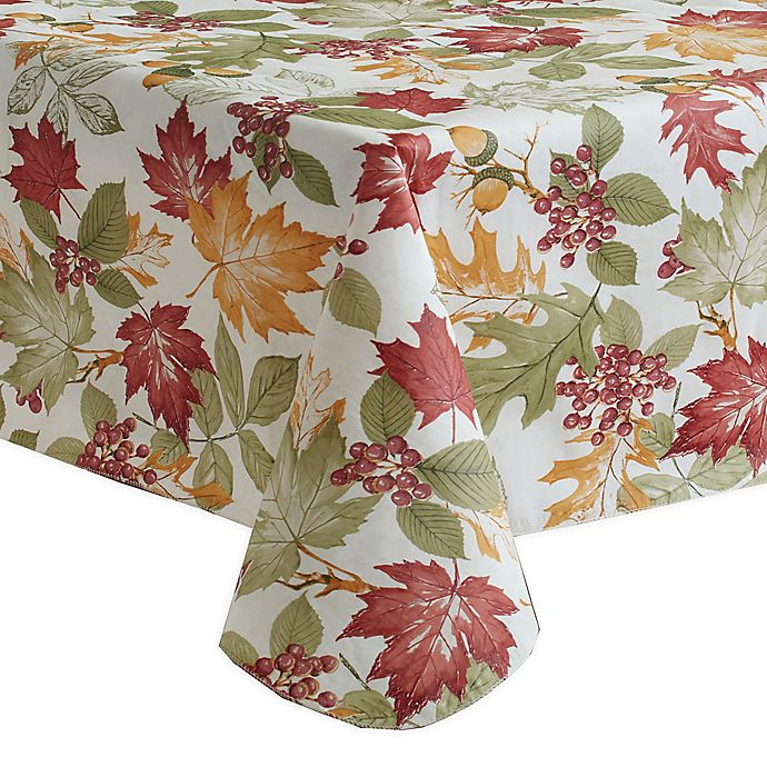 Alternate image 1 for Fall Leaf Melody Vinyl Tablecloth