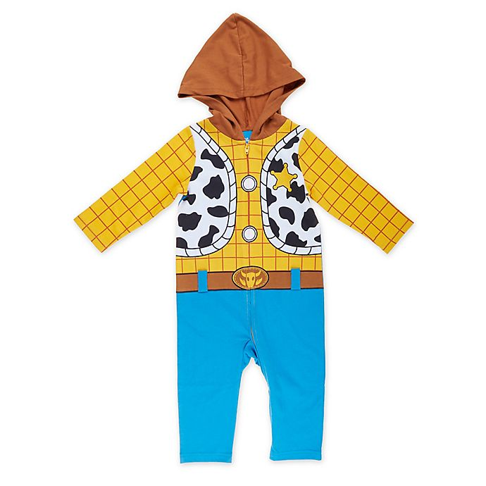 Alternate image 1 for Disney® Toy Story Woody Toddler Coverall in Yellow