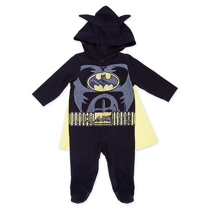 Alternate image 1 for Warner Bros® Batman Hooded and Caped Coverall in Black