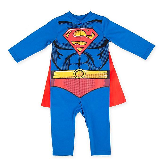 Alternate image 1 for Warner Bros.® Superman Toddler Coverall in Blue