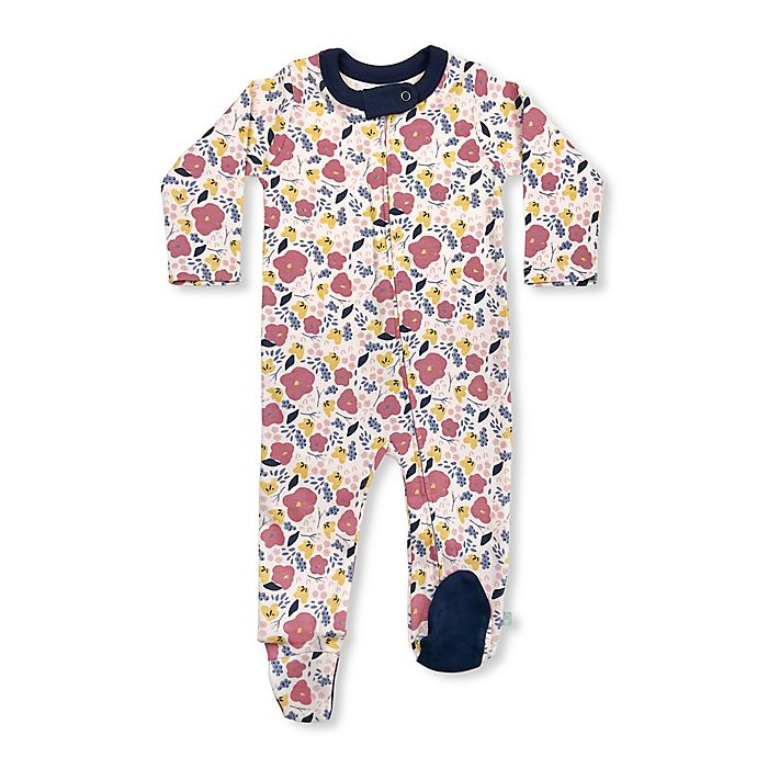 Alternate image 1 for Finn by Finn + Emma® Floral Organic Cotton Footie in Pink