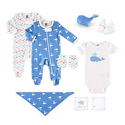 The Peanutshell™ Size 0-3M 10-Piece Whale Layette Set
