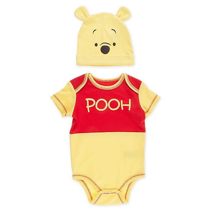 Alternate image 1 for Disney® 2-Piece Winnie the Pooh Bodysuit and Cap Set in Yellow