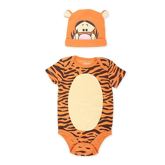 Alternate image 1 for Disney® 2-Piece Tigger Bodysuit and Hat Set in Orange
