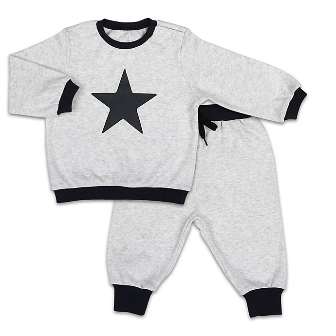 Alternate image 1 for The PeanutShell™ Let's Play Star Pullover Top and Jogger Pant Set