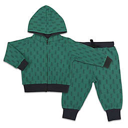 The Peanutshell™ Baby Camp 2-Piece Tree Hoodie and Jogger Set in Green