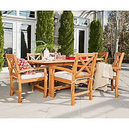 Forest Gate Aspen Acacia Wood 7-Piece Patio Dining Set with Cushions