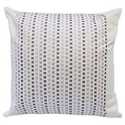 Canadian Living Sussex Embroidered Square Throw Pillow in Plum