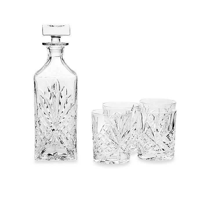 Alternate image 1 for Godinger Dublin Crystal Whiskey 5-Piece Barware Set
