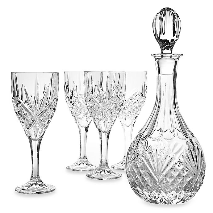 Alternate image 1 for Godinger Dublin Crystal Wine 5-Piece Barware Set