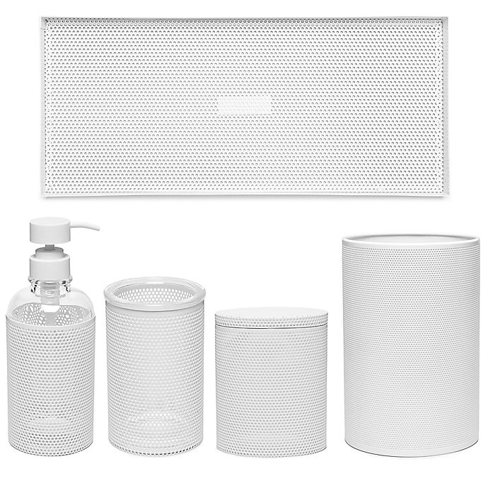 Alternate image 1 for Calvin Klein Donald Mesh Bath Accessory Collection in White