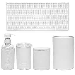Calvin Klein Donald Mesh Bath Accessory Collection in White