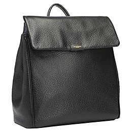 Storksak St. James Leather Diaper Backpack in Black