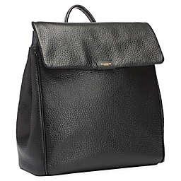 Storksak St. James Leather Diaper Backpack in Black