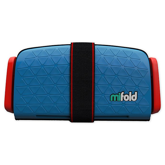 Alternate image 1 for mifold Grab-and-Go Car Booster Seat in Blue