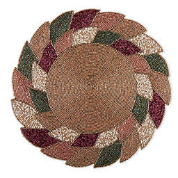 Beaded Autumn Leaves Placemat in Spice