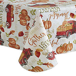 Harvest Truck Vinyl Tablecloth