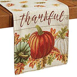 Thankful Pumpkin Tapestry Table Runner