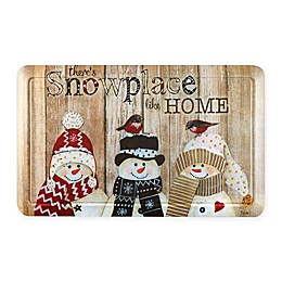 "Home Dynamix ""There's Snowplace Like Home"" Snowmen 18"" x 30"" Comfort Mat"