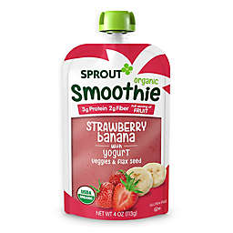 Sprout® 4 oz.Strawberry Banana with Yogurt Veggies & Flax Seed Organic Smoothie
