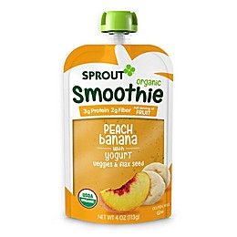 Sprout 4 oz. Peach Banana with Yogurt Veggies & Flax Seed Organic Smoothie