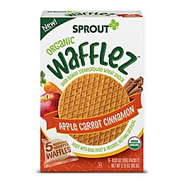 Sprout® Wafflez™ 5-Pack 0.63 oz. Apple Carrot Cinnamon Organic Baked Wheat Snacks