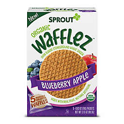 Sprout® Waffles™ 5-Pack Blueberry Apple Organic Baked Wheat Snacks