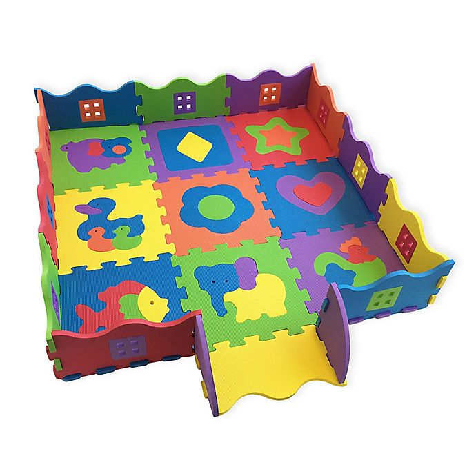 Alternate image 1 for Verdes Foam Activity Ball Pit and Play Mat Set